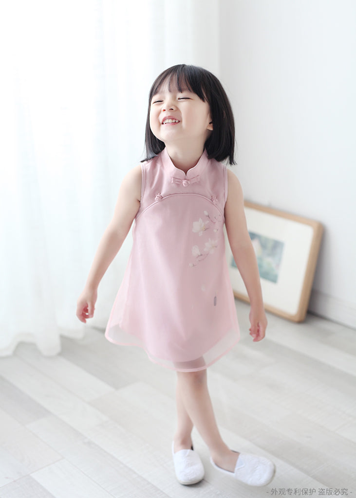 2-8Y Girls Cheongsam Dress with Lining A200C13D