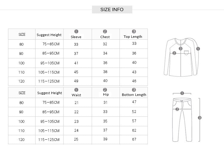 1-6Y Kids Tracksuits Sweater and Pants Set A42111F
