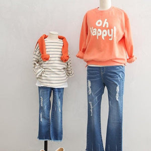 3-15Y Girls Elastic Denim Jeans G21043B (Mother size available)