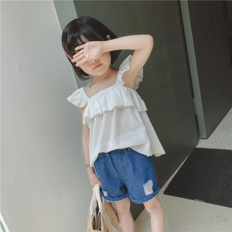 3-10Y Girls Ruffles Frill Top A20212K
