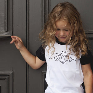 Chateau Bebe Little Pop Studios Geometric Bat Shirt CH313