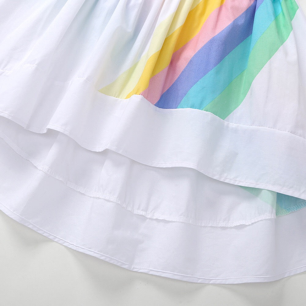 1-6Y Girls Rainbow Dress A20131A