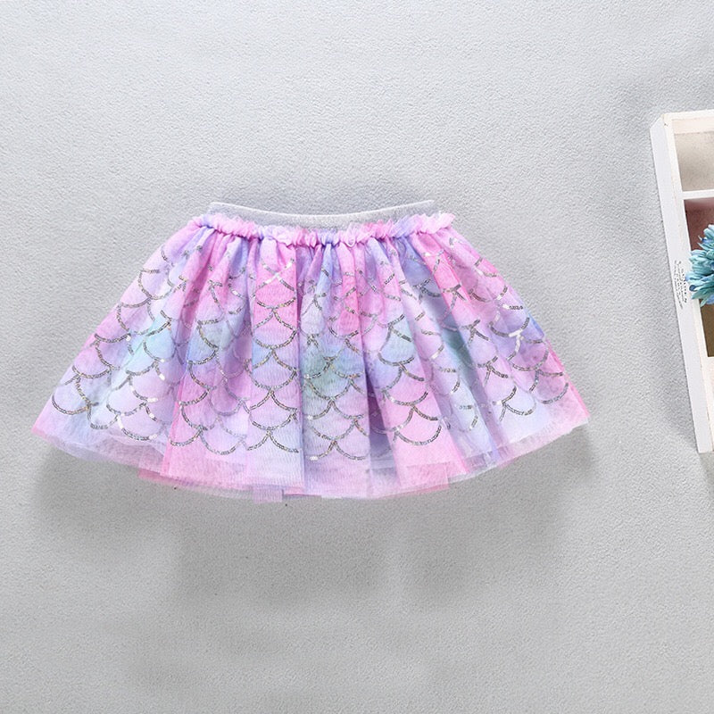 1-8Y Girls Mermaid Rainbow Skirt A20412C