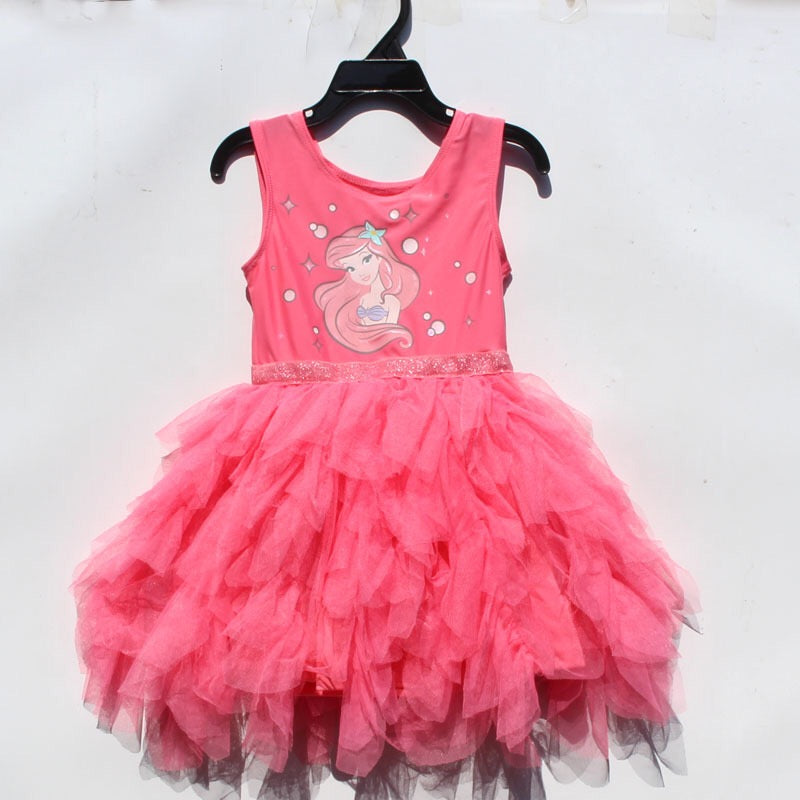 2-6Y Girls My Little Mermaid Tulle Dress A20129C