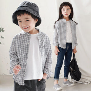 1-6Y Kids Checker Shirt A1081B