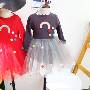2-7Y Pom Pom Tulle Dress A2017L