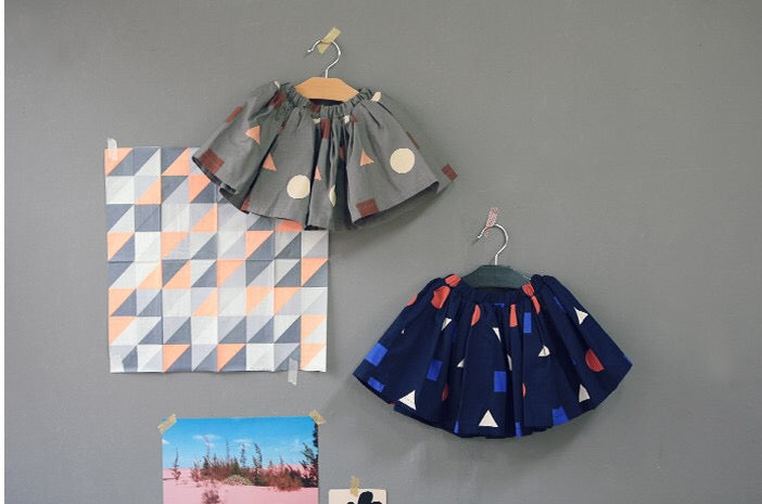 2-6Y Girls Korean Pinkideal Geometric Skirt A20412H