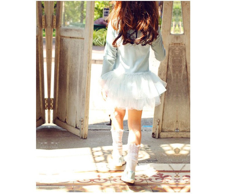 2-7Y Girls Lace Tulle Dress A20131E