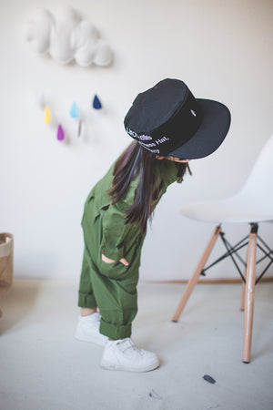 2-7Y Kids Army Green Jumpsuit G210EL