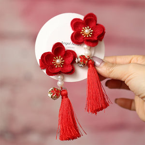 Handmade Kids Cherry Blossom Flower Pair of Hairclips A323G882B