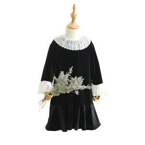 2-8Y Girls Black Dress A20131D