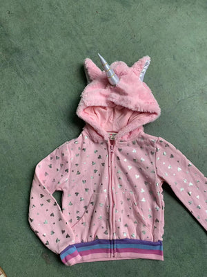 Girls Pink Unicorn Jacket A2087B