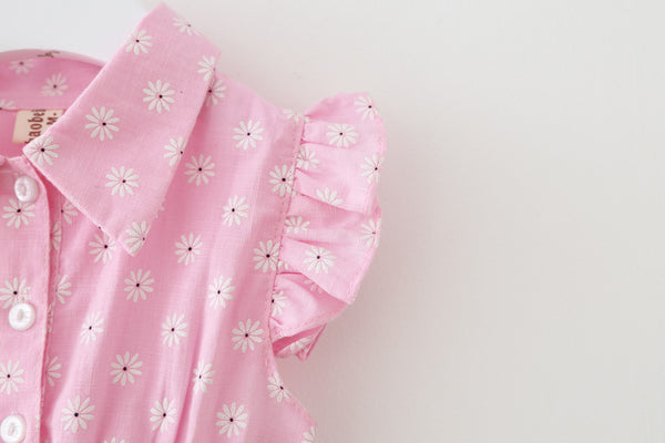 1-4Y Girls Pink Tulle Dress A2013J