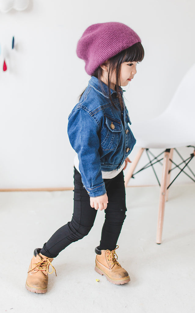 2-7Y Girls Blue Jeans Denim Jacket A208L