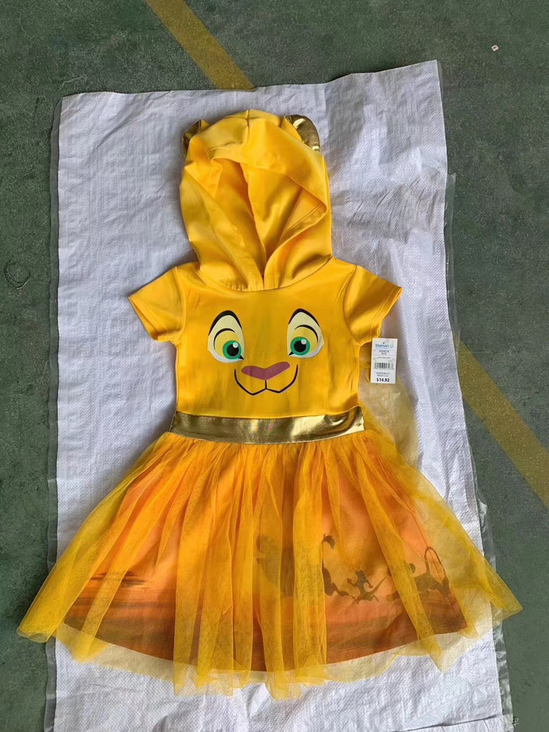 3-15Y Girls Lion King Hoodie Tulle Dress A20133B
