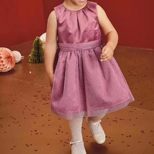 Girls Pink Glitter Party Prom Dress G20132C