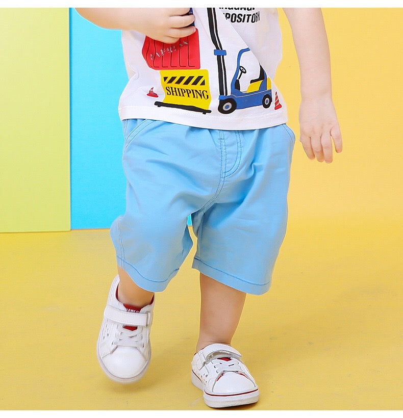 2-10Y Boys Short Cropped Pants A10314A