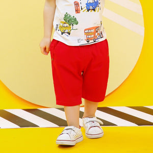 2-8Y Boys Short Cropped Pants A10314H