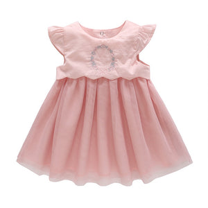 0-3Y Baby Embroidery Tulle Dress A40611A