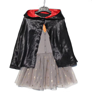 4-16Y Girls Harry Potter Dress with Hoody Cape A20133D