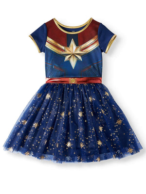 4-16Y Girls Captain Marvel Tulle Dress A20133C