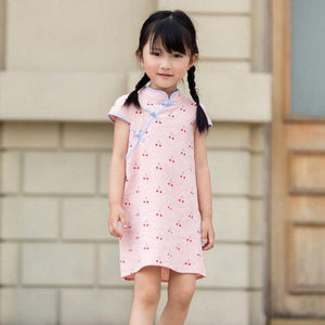 2-8Y Girls Cherry Cheongsam Dress A200C64E