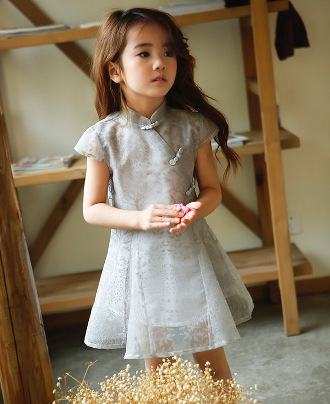 2-8Y Girls Flare Cheongsam Dress A200C64B