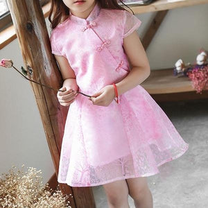 2-8Y Girls Flare Cheongsam Dress A200C64A