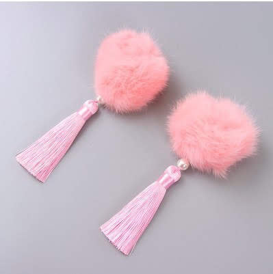 100% Handmade Kids Rabbit Tails Pair of Hairclips A323G88E