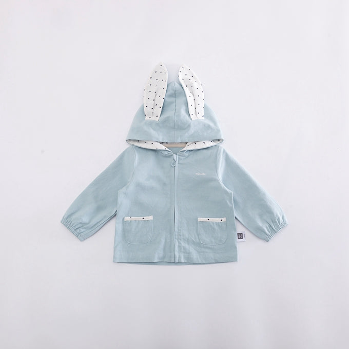 0-2Y Baby Blue Bunny Zipped Hoody Jacket A4081C