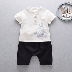 2-7Y Boys Kungfu Top and Bottom 2pcs Set A100C42C