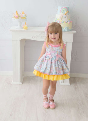 Girls Big Bow Pleated Party Dress G20132G