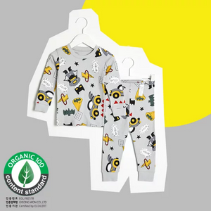 2-12Y Kids UniFRIEND Organic Robot Pyjamas 2pcs Set A40424B