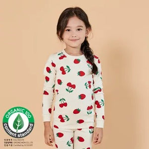 2-12Y Kids UniFRIEND Organic Cherry Pyjamas 2pcs Set A40424A