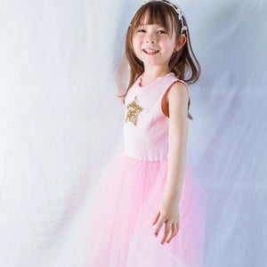 2-7Y Girls Pink Tulle Dress G2092A