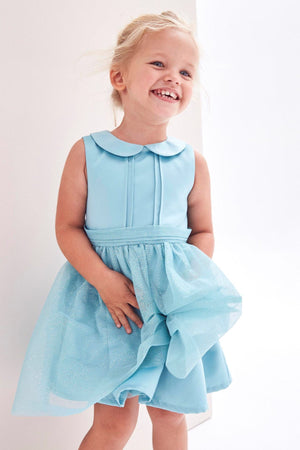 1-6Y Kids Elegant Glitter Tulle Dress G20124D