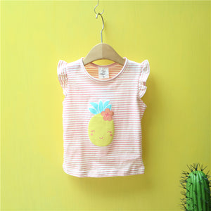 2-8Y Girls Pineapple Shirt A20211A