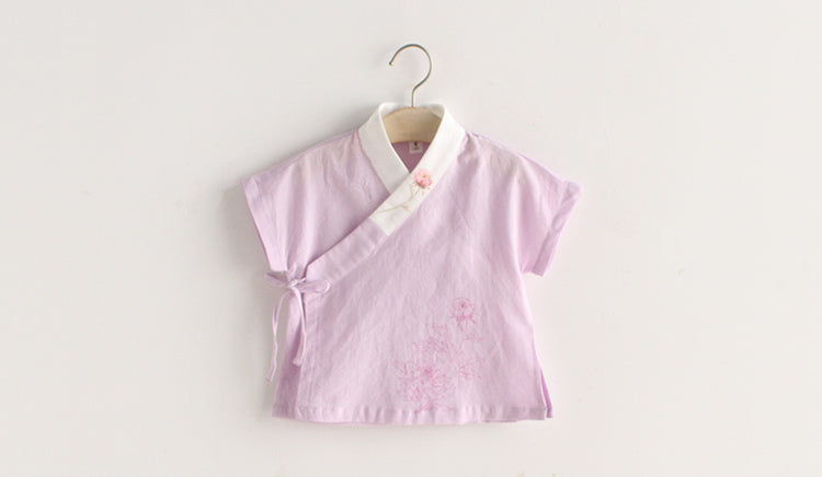 1-6Y Girls Cheongsam Top A200C21M
