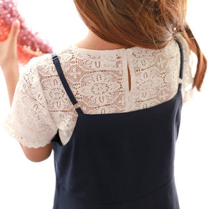 3-15Y Girls White Lace Top G21041D (Mother size available)