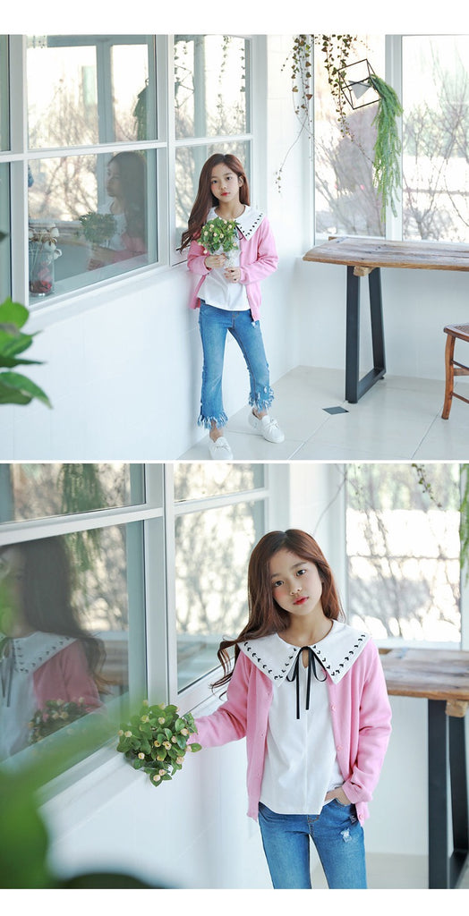 3-15Y Girls Pink Cardigan G21041E (Mother size available)