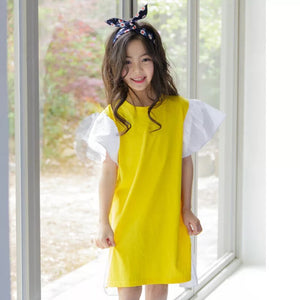 3-15Y Girls Yellow Dress G21032E