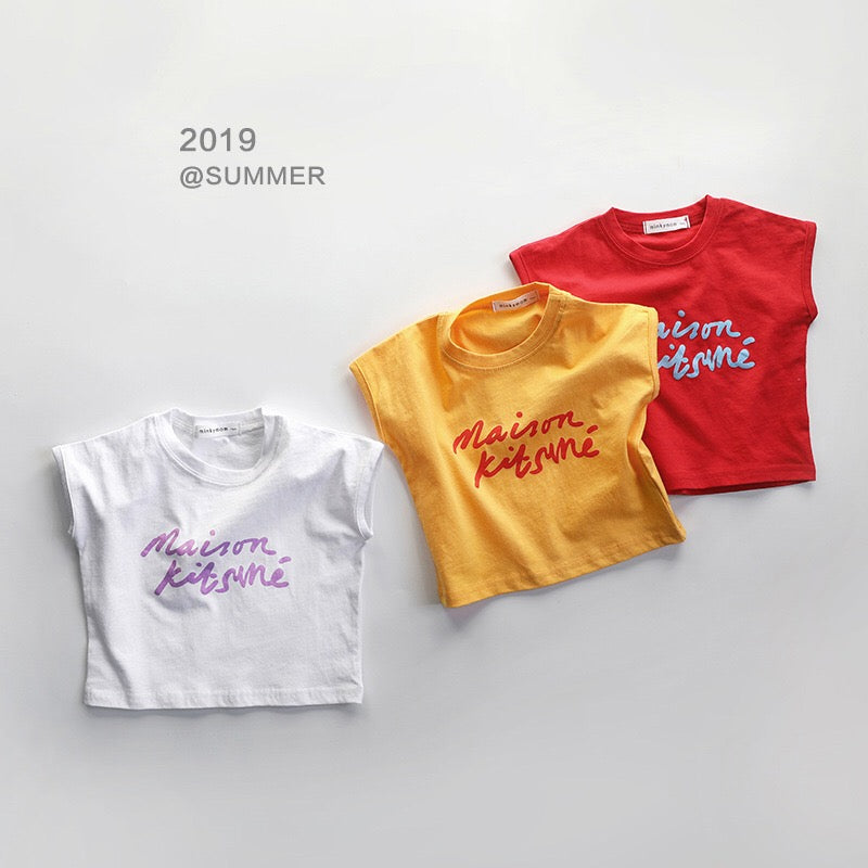 1-7Y Kids Short-Sleeves Shirts A10425E