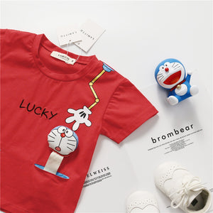 1-7Y Kids Doreamon Short-Sleeves Shirts A10425C