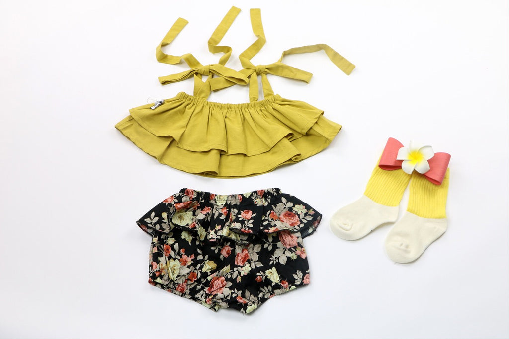1-8Y Girls Top and Bottom 2pcs Set G20121G