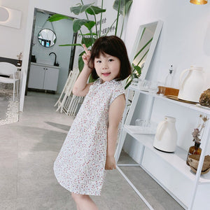 2-8Y Girls Floral Cheongsam Dress A200C69K