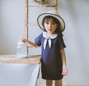2-8Y Kids Navy Blue Dress G20124J