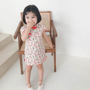 2-8Y Girls Cheongsam Dress A200C69J