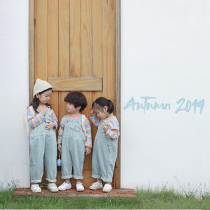 2-8Y Kids Unisex Denim Romper G20142D