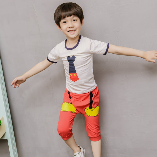 2-10Y Kid Mickey Pyjamas 2pcs Set K1034B
