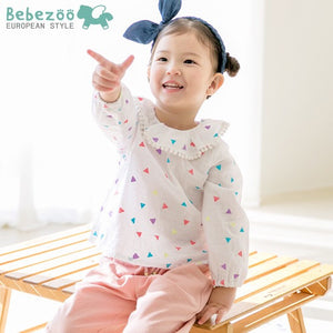 2-4Y Bebezoo Girls Ruffles Triangles Puffy Tops K2011H